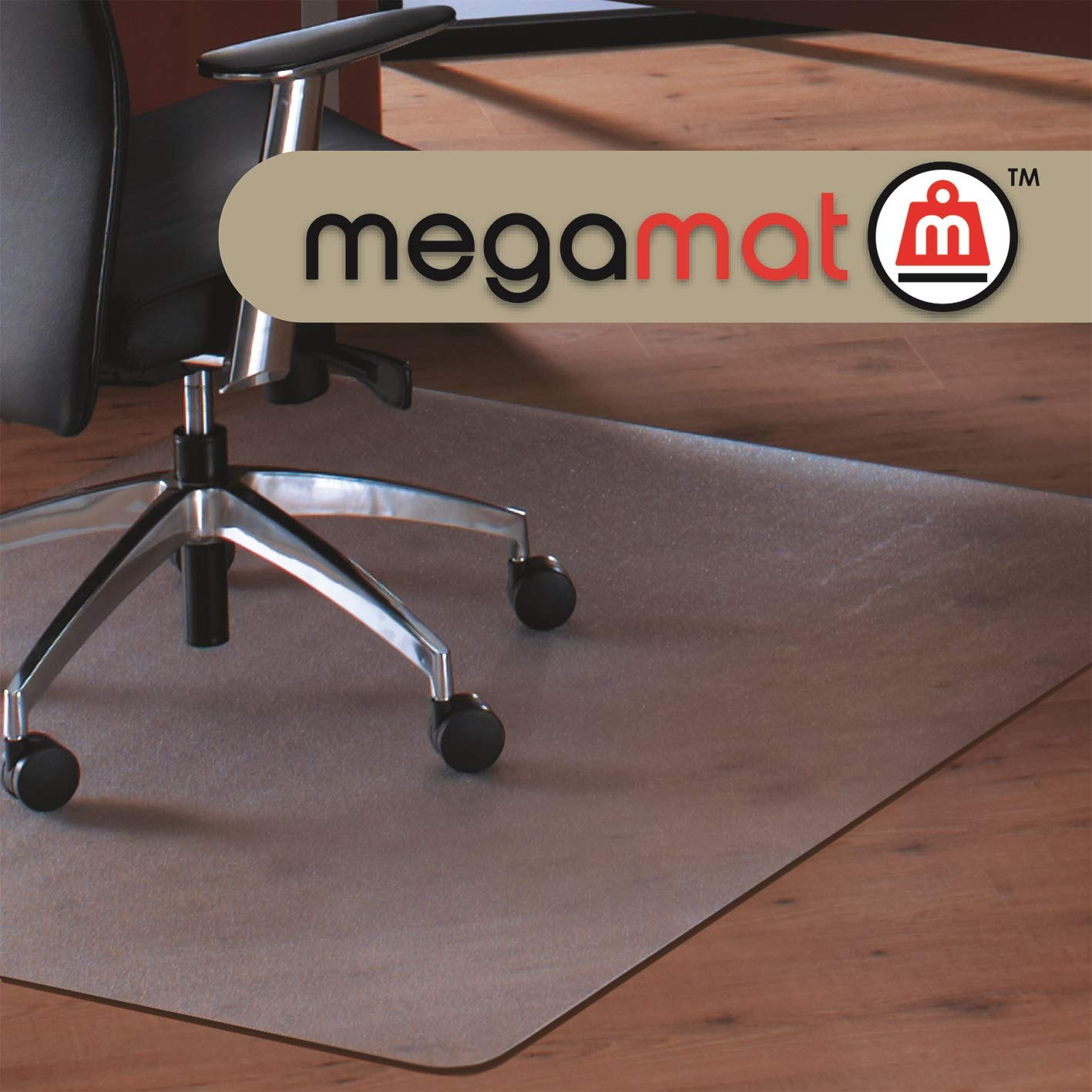 Cleartex MegaMat, Heavy Duty Chair Mat, for Hard Floors or Carpets, Size 46'' x 53''
