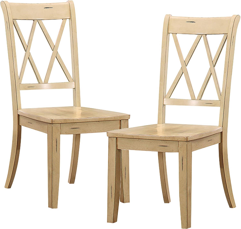 Homelegance Dining Chair (Set of 2), Buttermilk
