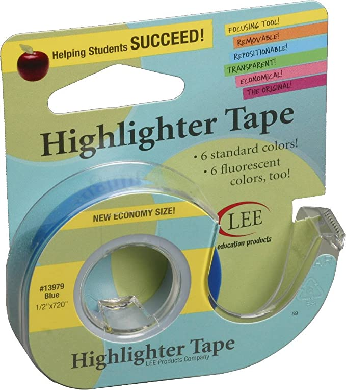 Amazon.com   Fluorescent Highlighter Tape 1 2