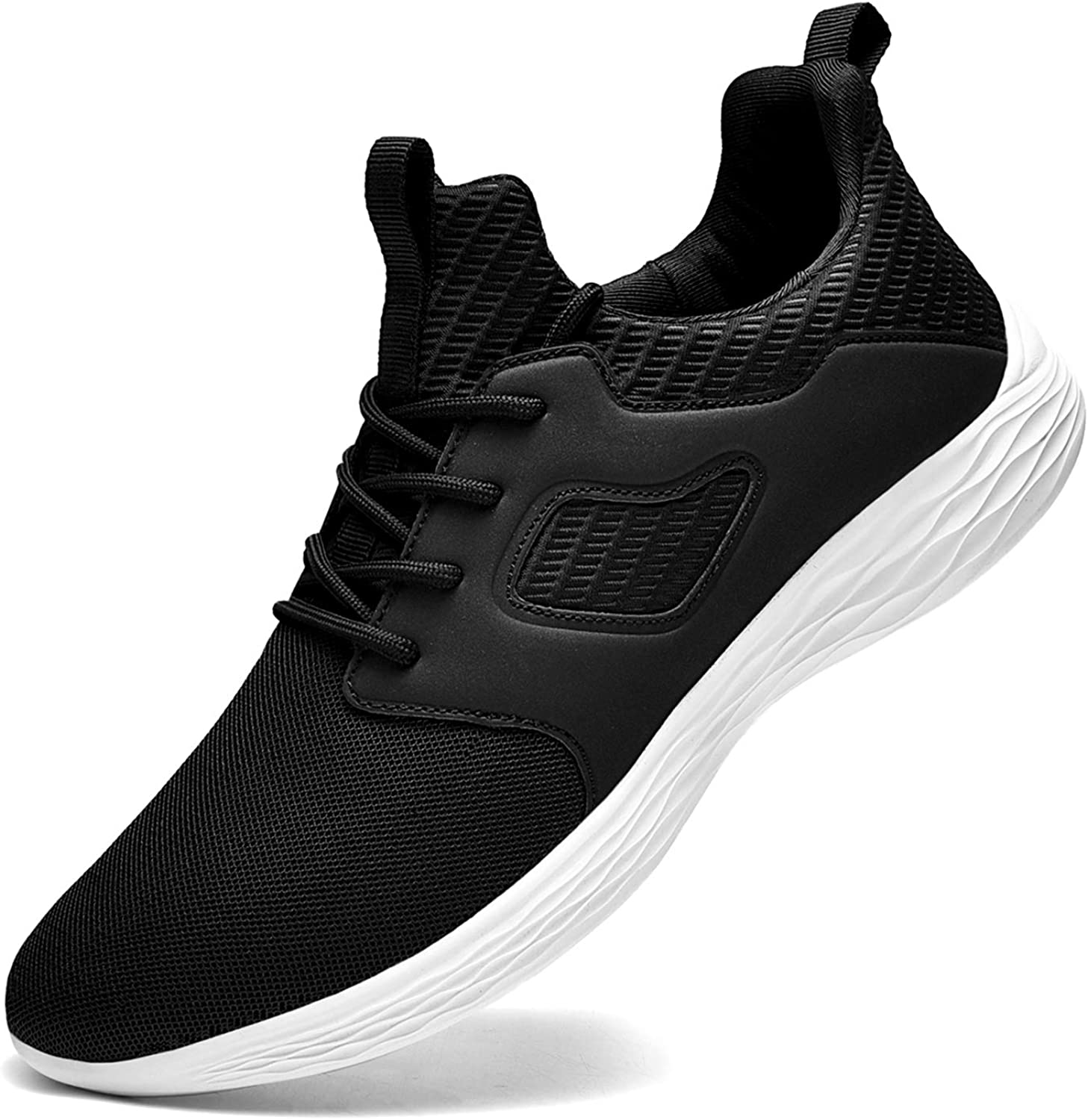 DierCosy Sneakers for Men Lightweight Gym Shoes Mens Tennis Shoes Non Slip Walking Shoes Athletic Running Slip-On Shoes