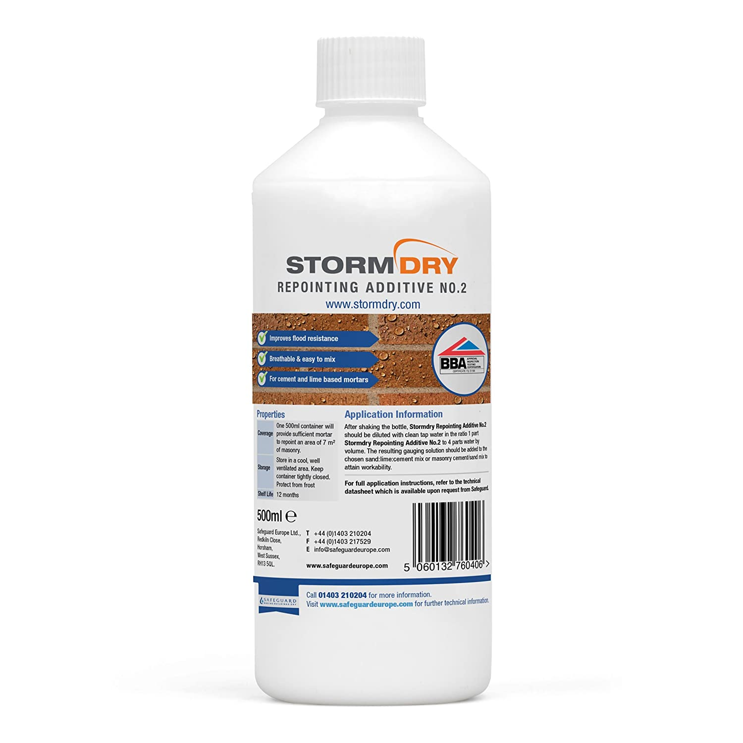 Stormdry Repointing Additive No2 - Repointing - Increase Water Resistance Safeguard Europe Ltd