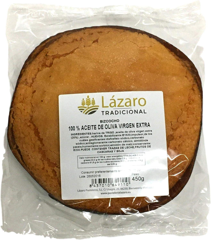 Lázaro Bizcocho de Aceite de Oliva Virgen Extra 100% 450 g: Amazon.es: Alimentación y bebidas