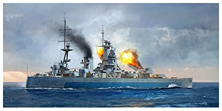 Amazon.com: Trumpeter 1/700 HMS Nelson, 756717 1944 Model ...