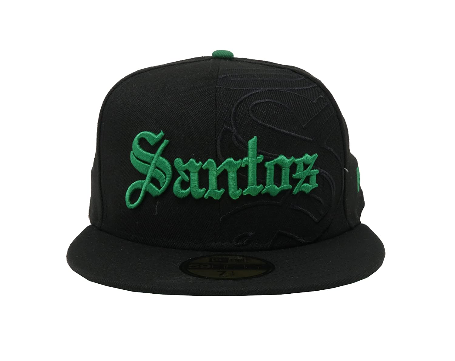 New Era 59Fifty Hat Santos Laguna Soccer Club Liga MX Grand Logo Black Fitted Cap at Amazon Mens Clothing store: