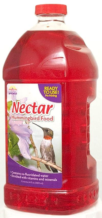 Natural Springs 100080659 Hummingbird Nectar Ready to Use 64oz