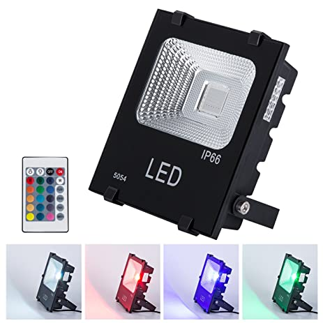 Gm lighting outdoor rgb led flood lights 20w multi colors security gm lighting outdoor rgb led flood lights 20w multi colors security lights halogen bulb equivalent mozeypictures Image collections