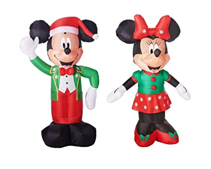 mickey mouse minnie mouse christmas decorations outdoor yard decor 5 feet tall airblown self inflatable