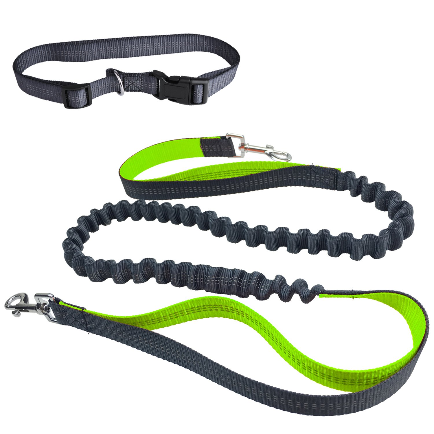 Hands Free Dog Leash,Ecandy Durable Handle Shockproof Extendible Bungee(Stretches to 75