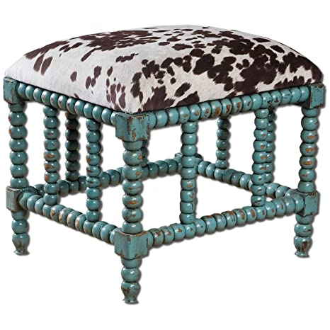 Amazing Uttermost Chahna Bench Small Blue Cjindustries Chair Design For Home Cjindustriesco