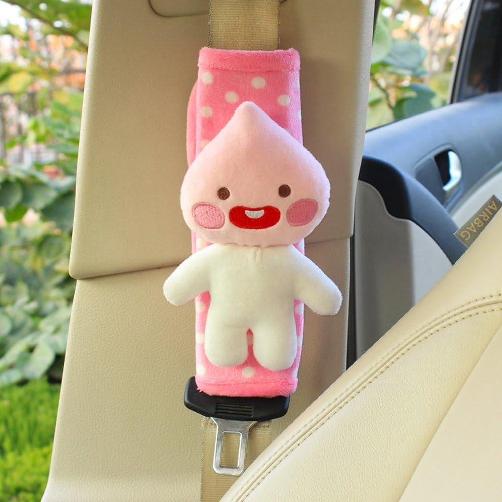Panda Cute Plush Mini Animals Car Seat Belt Covers Shoulder Pads For Children or Adults 2 pieces