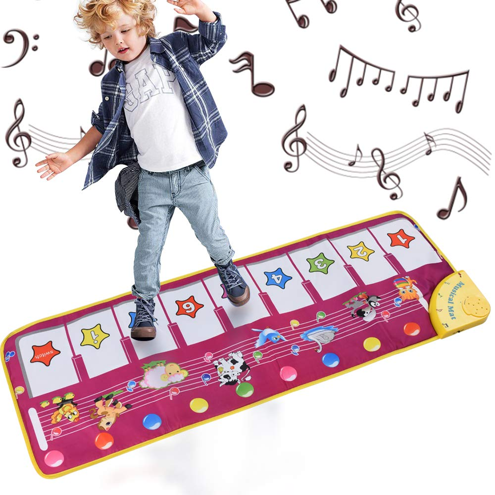 ALANGDUO Piano Musical Mats, Kids Children Touch Play Game Dance Music Animal Blanket Carpet Mat, Boys Girls Baby Early Education Toys LETEASE CO. LTD