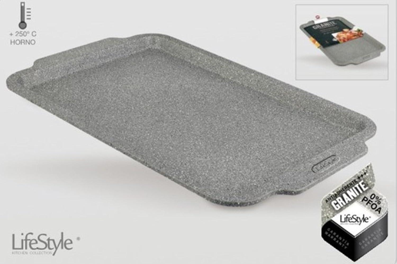 Life Style - Bandeja de Horno Alta Granite - Acero al Carbono - Revestimiento Antiadherente: Amazon.es: Hogar
