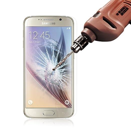 ACENIX® Samsung Galaxy S6 Tech Armor Ballistic Protector de pantalla de cristal - Protege tu pantalla de arañazos y caídas - maximizar valor de reventa ...
