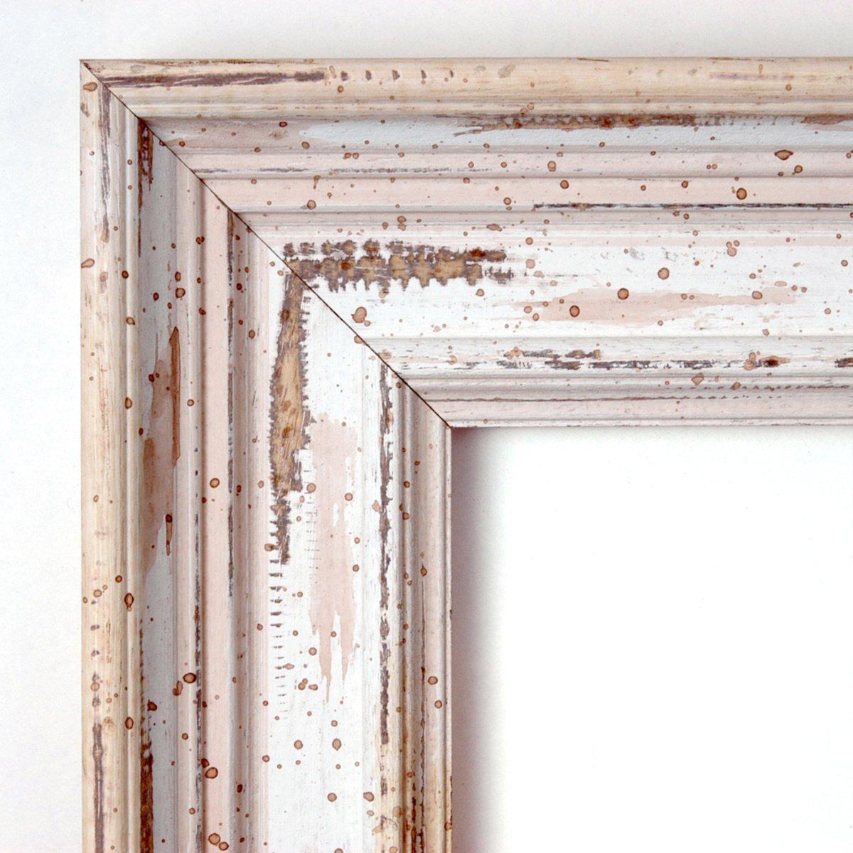 Amazon wall mirror large alexandria white wash wood outer amazon wall mirror large alexandria white wash wood outer size 33 x 27 home kitchen amipublicfo Gallery