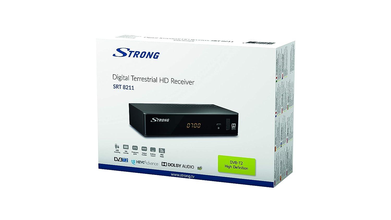 Reproductor//sintonizador terrestre  HDTV para  DVB-T2 y DVB-T Strong SRT 8211 Terrestrial Receiver