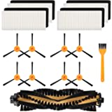 TOOGOO 8 Brushes + 4 Hepa Filters + 1 Main Brushes for Deebot N79 N79S Robotic Vacuum Cleaner,Side Brushes,Filter,Main…