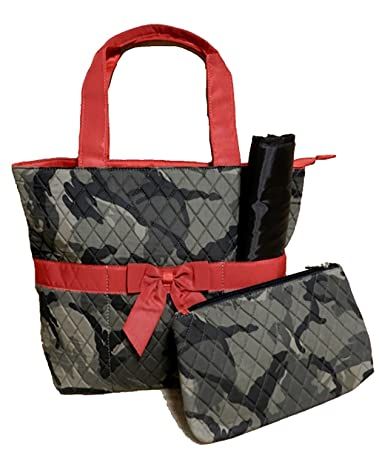 Amazon.com : Quilted Camo Diaper Bag 3 Piece Set with Red Trim : Baby : quilted camo diaper bag - Adamdwight.com