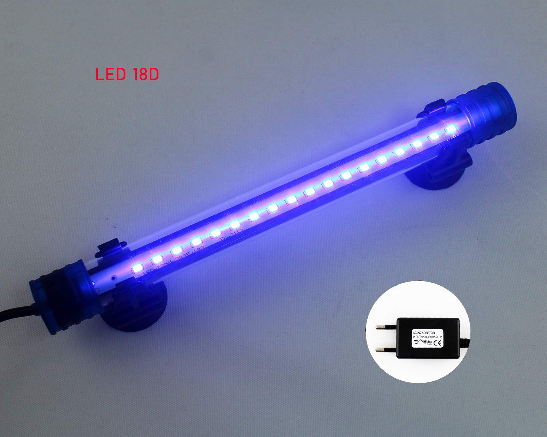 Lámpara LED para Acuario, Luces LED para pecera, Tubo LED Sumergible, incluido ventosa para instalación. (1): Amazon.es: Iluminación