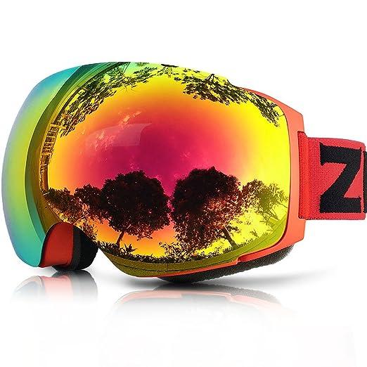 10 opinioni per ZIONOR Lagopus X4 Occhiali da sci Snowboard Anti Nebbia Magnetic Lens-swap Tech