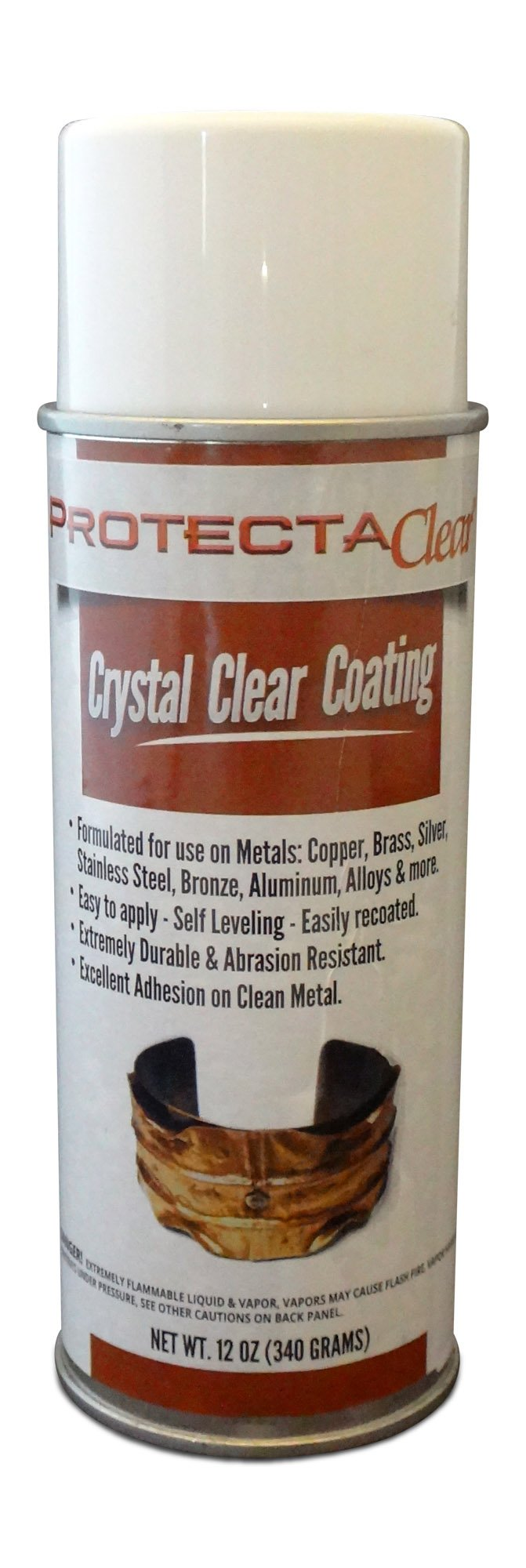 ProtectaClear 12 Oz. Clear Aerosal Can, Protective Coating for Metal (Net Weight)