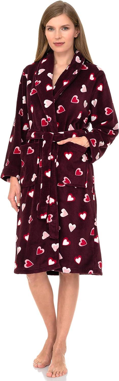 TowelSelections Women's Plush Robe, Fleece Shawl Collar Spa Bathrobe