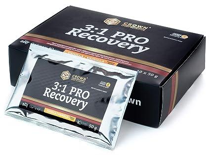 Crown Sport Nutrition Caja 3:1 PRO Recovery, Suplemento recuperador muscular para deportistas,