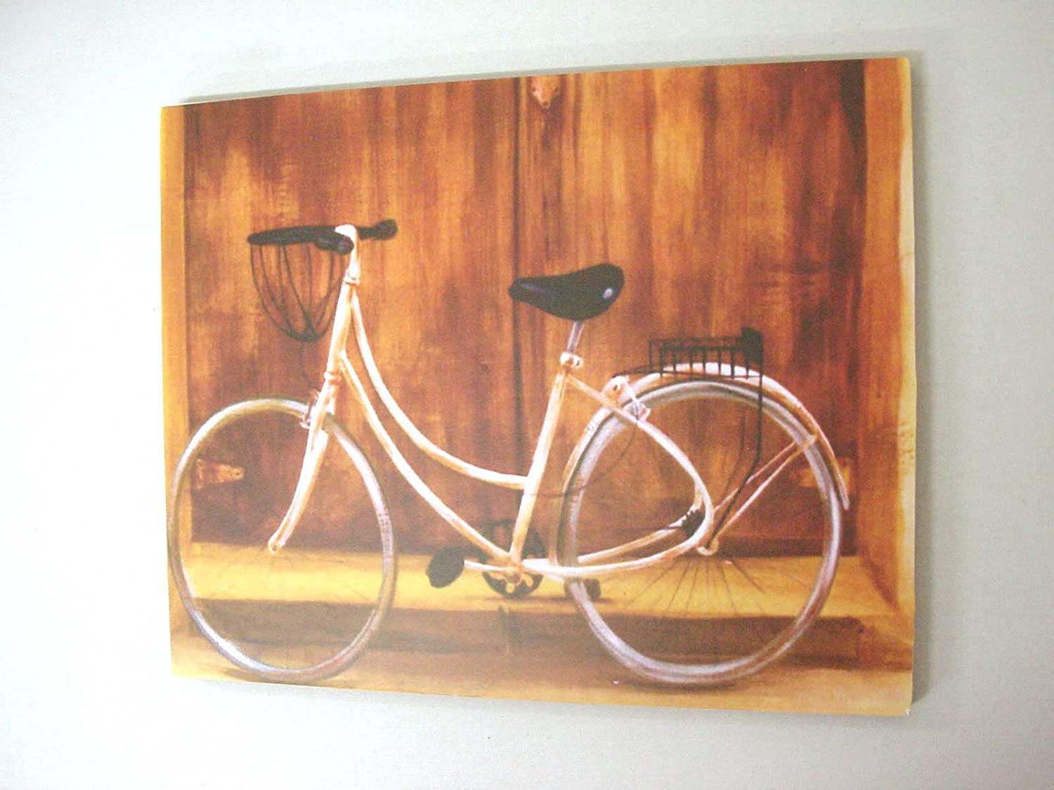 Desconocido Cuadro Tabla Bicicleta Antigua Pared Amarillo: Amazon ...