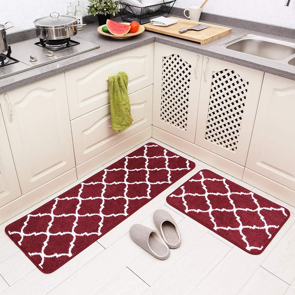 Carvapet 2 Pieces Microfiber-Best Area Rugs For Kitchen