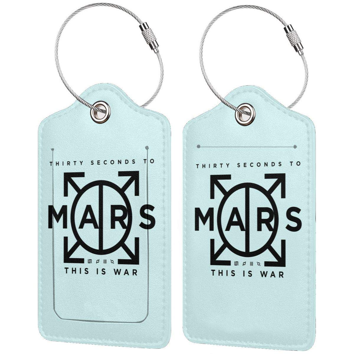 30 Seconds To Mars Leather Luggage Tag Travel ID Label For Baggage Suitcase