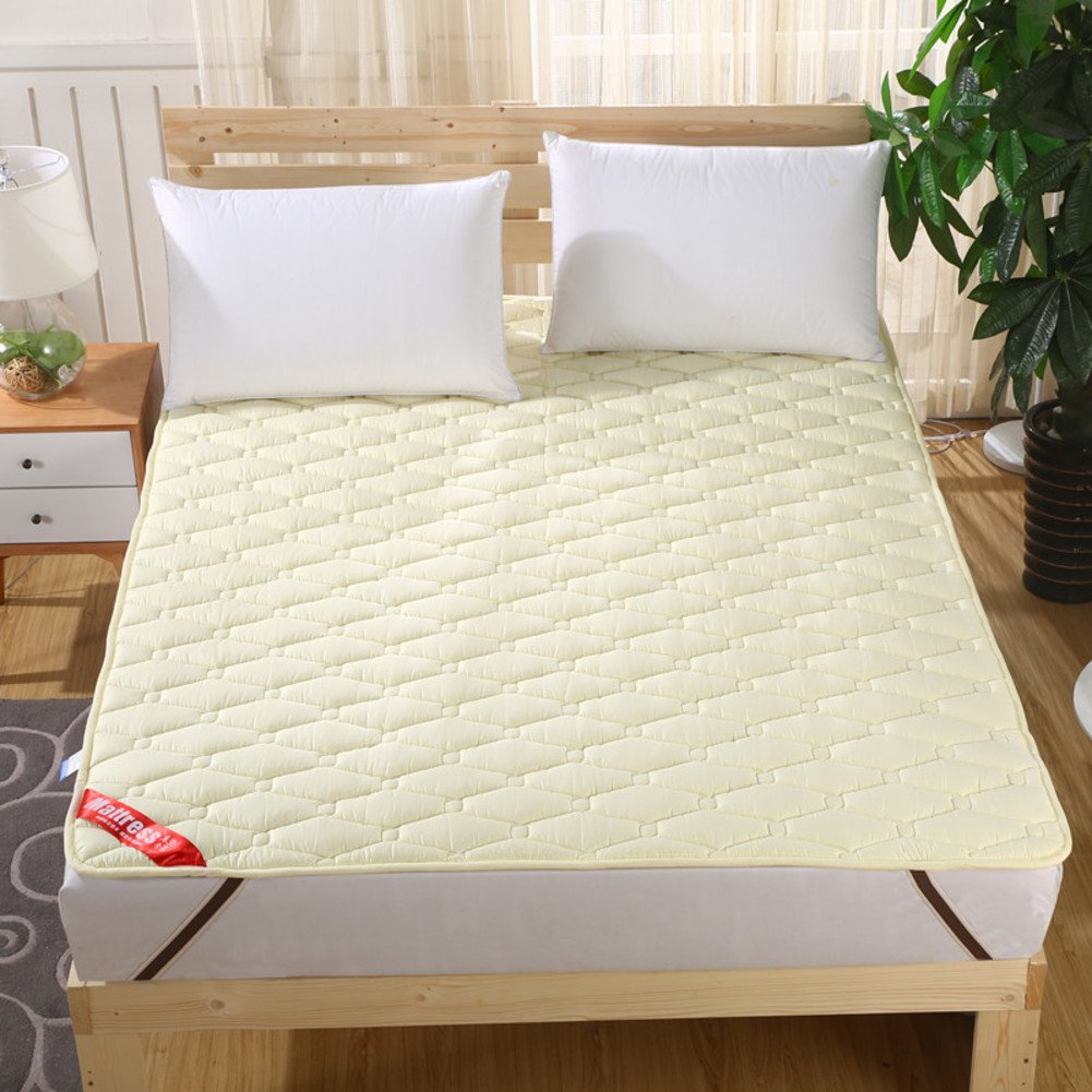 B 180x200cm(71x79inch) Bedroom Mattress Tatami mat Bed pad fold-Able Anti-Skidding 1.5Cm Thick [Individual] [Double] for livingroom Student Dormitory Tents-A 180x200cm(71x79inch)