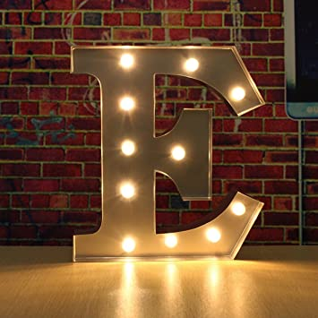 solmore 30cm x 5cm led metal marquee letter lights vintage circus style alphabet light up sign
