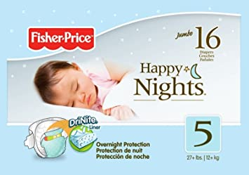 Fisher Price Overnight Diapers - Size 5 - 16 ct