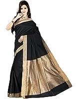 e-VASTRAM Women Cotton Silk Plain Saree