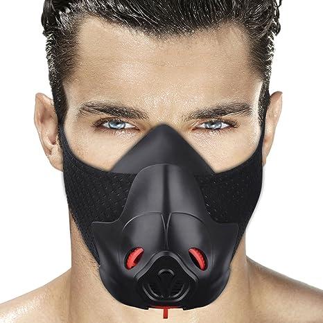 Deporte Entrenamiento hipóxico la Resistencia a la respiración Mascara Mascara Lograr Resistencia Fitness Running con 3