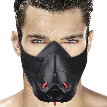 Máscara deportiva de entrenamiento para resistencia a la respiración, hipóxica, máscara de fitness para