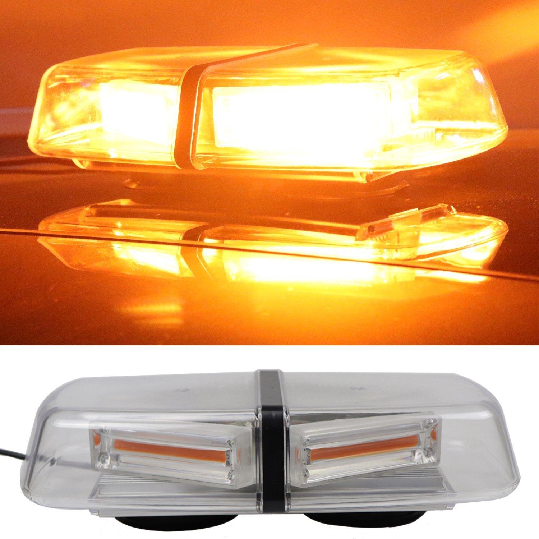 Yhaavale 30W d'urgence avertissement Strobe Light, 12–24VCC, Ambre, 13Flash Modèle, magnétique, Basce, voiture/camion COB LED stroboscope d'urgence de la police, police Balise d'avertissement de sécurité