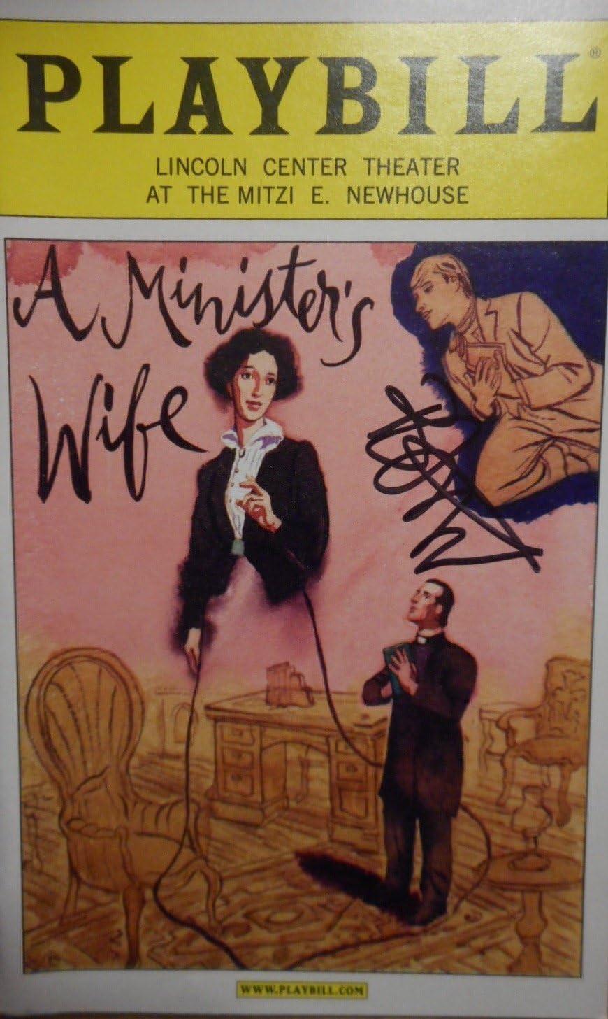 Signed Bobby Steggert Brand New Color Playbill from A Minister's Wife starring Bobby Steggert Marc Kudisch Kate Fry Drew Gehling Liz Baltes Music and Lyrics by Joshua Schmidt and Jan Tranen.