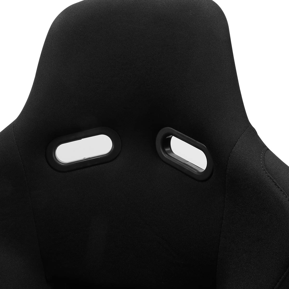 ModifyStreet 1 Pair Universal Black Fabric Fiberglass Pole Position Racing Bucket Seats