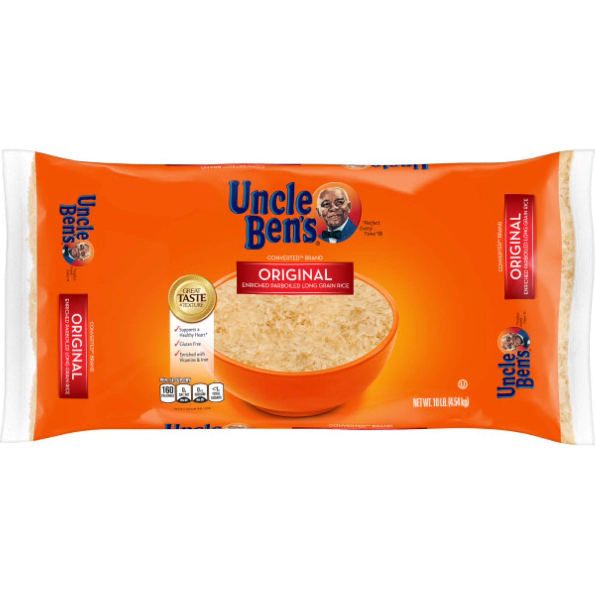 UNCLE BEN'S Original Converted Long Grain Rice Bag, 10 pounds