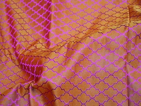 Tanchoi Jacquard tela de seda naranja vestidos de dama de honor de ...
