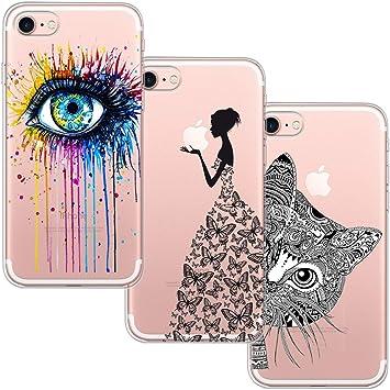 cd5372180fa 3 Pack] Funda Para iPhone 7, Funda iPhone 8, Funda de Silicona Suave ...