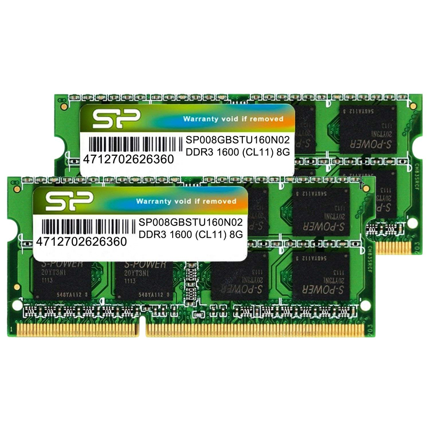 Silicon Power Hynix IC 16GB (2 x 8GB) DDR3L RAM 1600MHz (PC3 12800) 204 pin CL11 1.35V Non ECC Unbuffered SODIMM Laptop Memory Module - Low Voltage