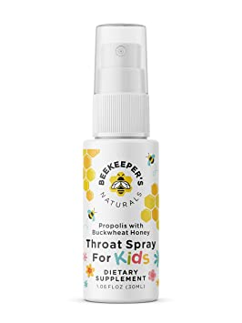 Bee Propolis Throat Spray for Kids by Beekeeper's Naturals