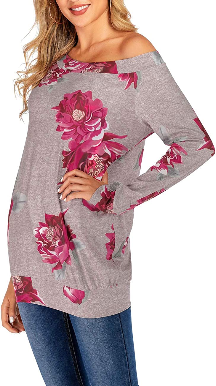 Simaer Womens Tops Casual T-Shirt Long Sleeve Tunics Cotton Knits Tees