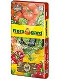 Floragard Bio Tomaten- und Gemüseerde ohne Torf 40 L • Bio-Spezialerde mit Kompost • für Tomaten, Chili, Zucchini, Auberginen und anderes Gemüse • Hochbeeterde • mit Bio-Dünger • torffrei