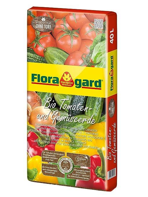 floragard bio de tomates y verduras Tierra sin turba 40 L, 114820