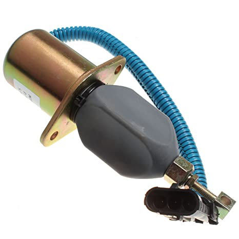 Holdwell Fuel Stop Solenoid Shutoff Solenoid SA-4026-12 for Ford Cummins  Truck 12Vdc