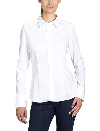 02d920a153b3 Seidensticker Damen Bluse Hemdbluse Langarm modern fit Uni Bügelfrei   Amazon.de  Bekleidung