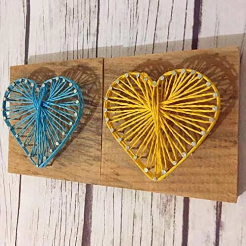 Amazon Rustic Wooden String Art Heart Sign 2pcsset Love