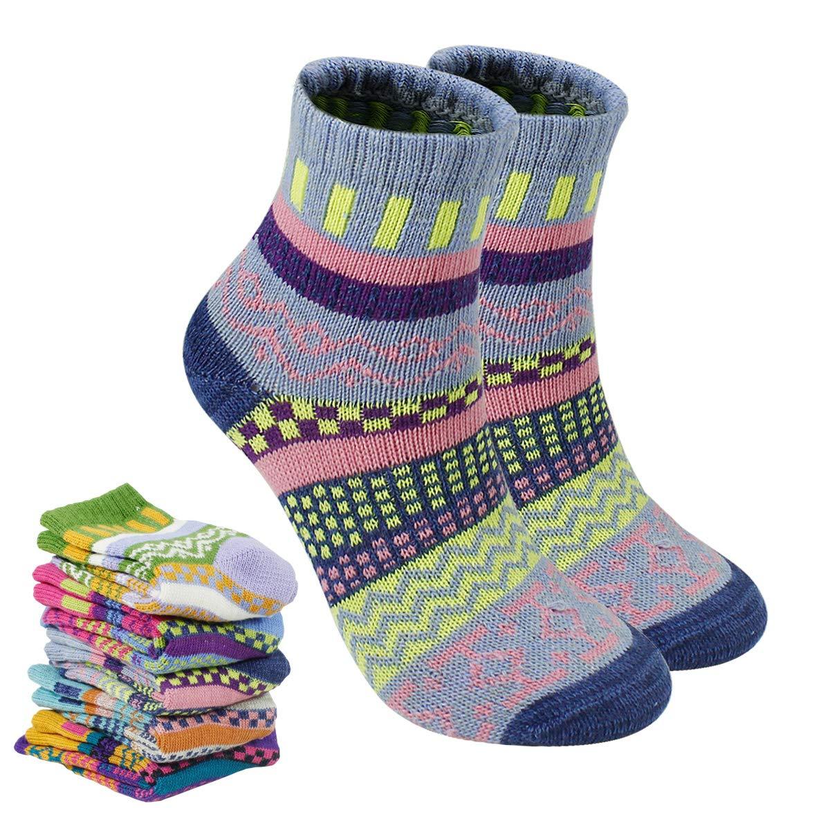 Dokpav 5 pares Calcetines mujeres Calcetines de invierno caliente Suave C/ómodo Super Gruesa Calcetines Adulto mujer Calcetines Calcetines de algodon